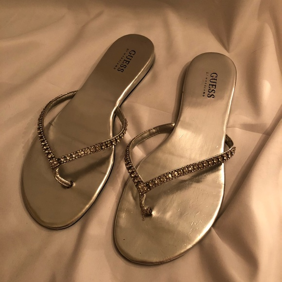 a23cd3396 Guess Shoes - Silver GUESS rhinestone sandals